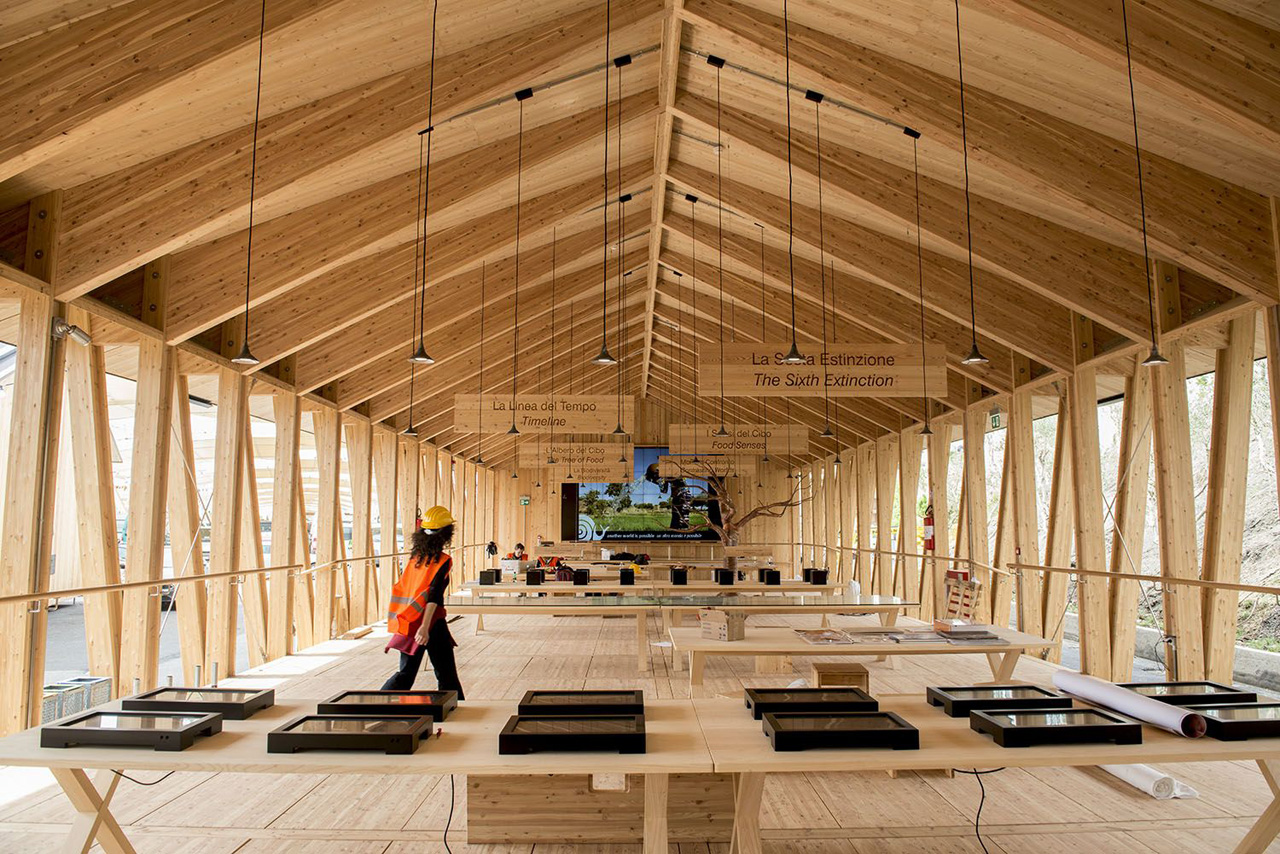 Slow food pavilion by herzog and de meuron metalocus for Why is wood sustainable
