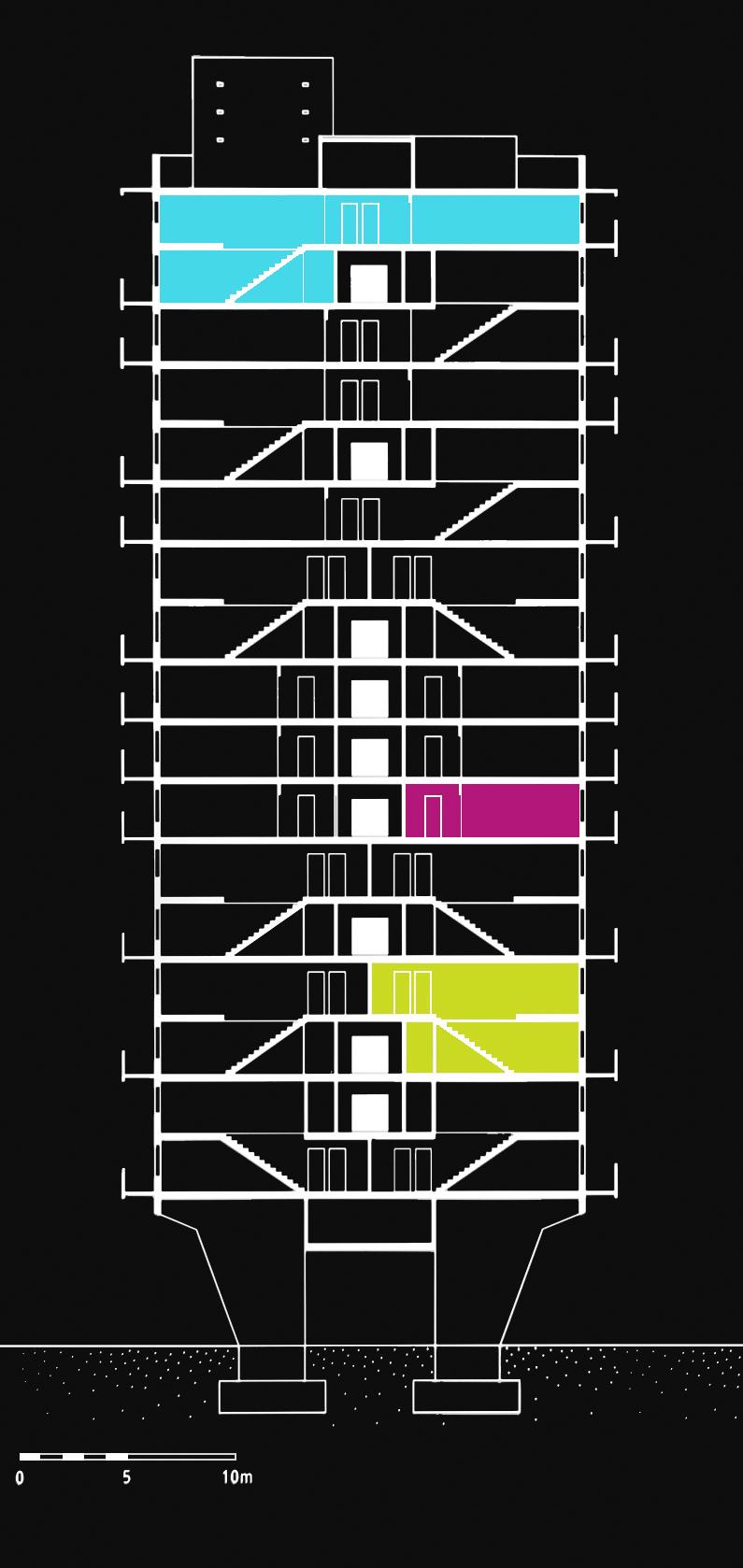 le corbusier unit d 39 habitation of berlin metalocus. Black Bedroom Furniture Sets. Home Design Ideas