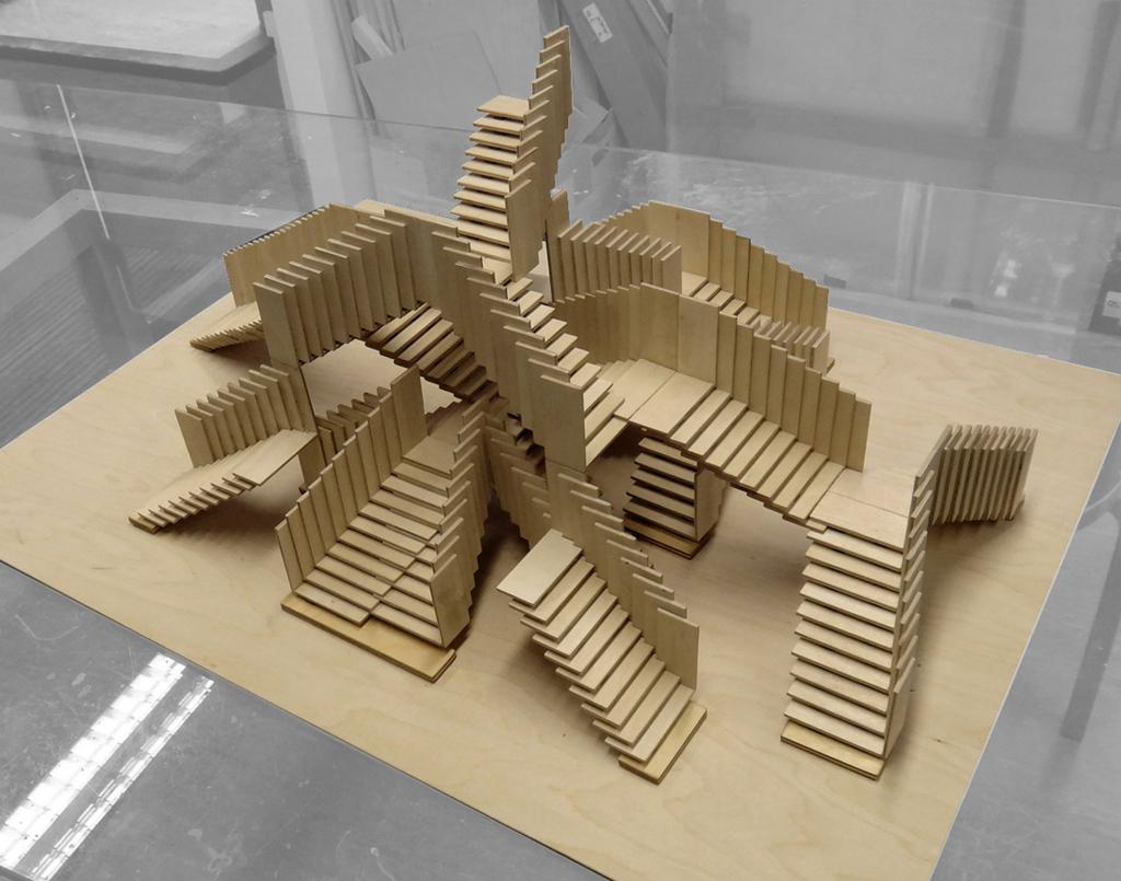 Popsicle Stick House Floor Plans La Escalera Sin Fin Metalocus