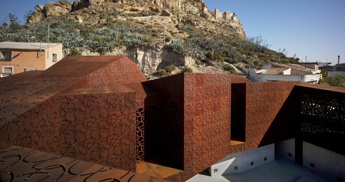 Museo de monteagudo metalocus for Acero corten perforado oxidado