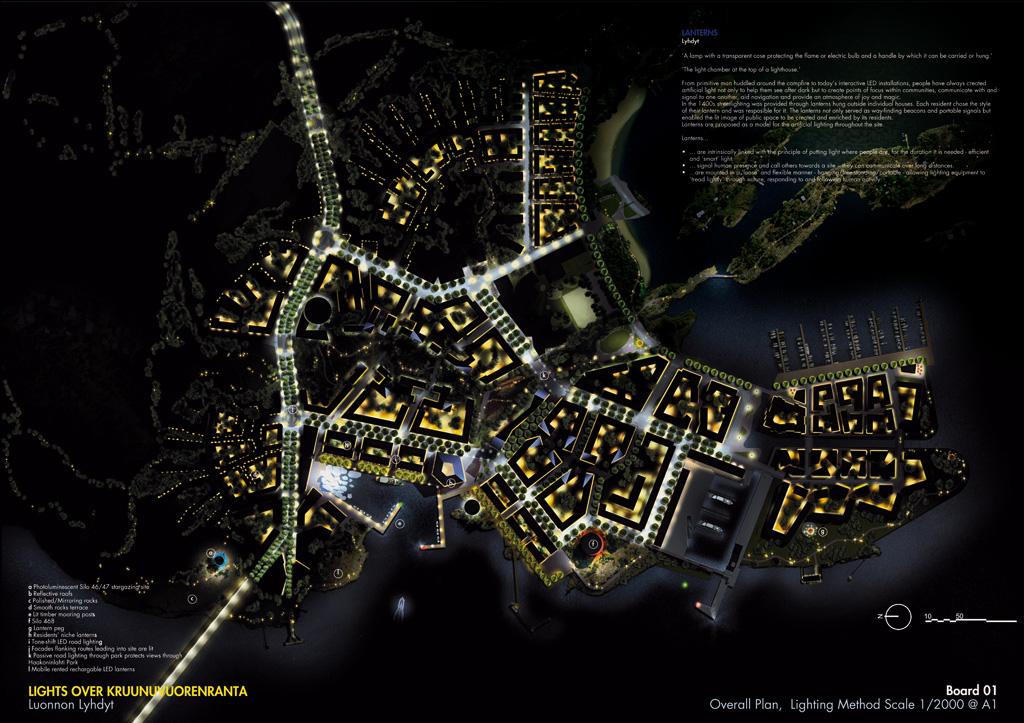 West 8 wins 1st prize lighting master plan helsinki for Landscape lighting plan