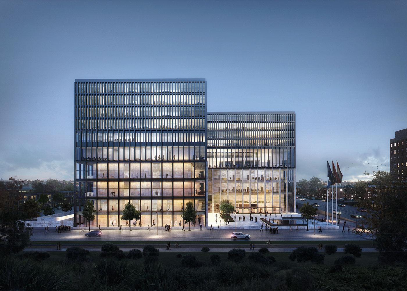 kaan architecten gana el concurso para el nuevo palacio de justicia de msterdam metalocus. Black Bedroom Furniture Sets. Home Design Ideas