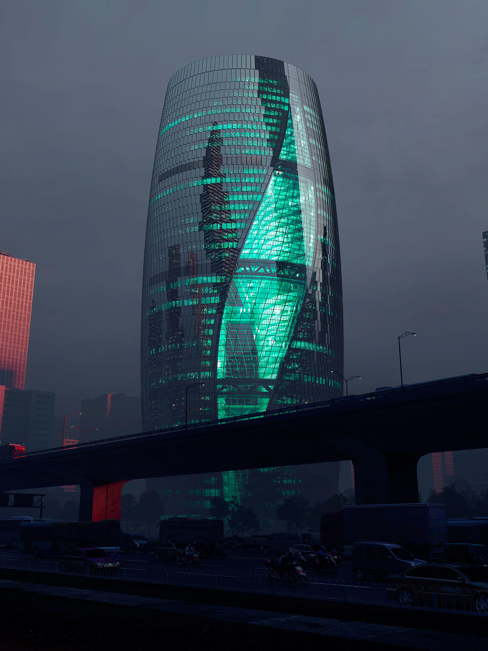 Zaha hadid architects presents leeza soho skyscraper in for Architecte hadid zaha