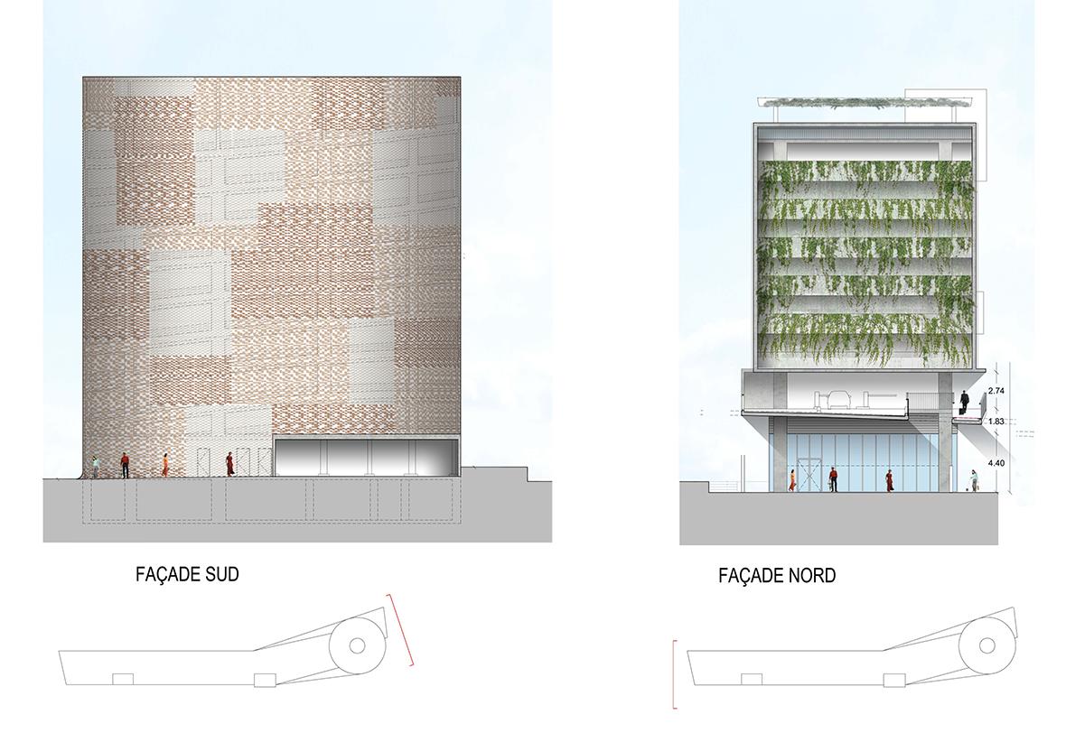 Nuevo aparcamiento de ladrillo en montpellier por - Alzado arquitectura ...