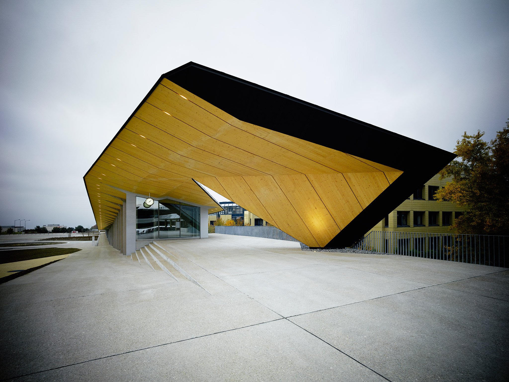 Under One Roof Project For The Epfl Artlab By Kengo Kuma
