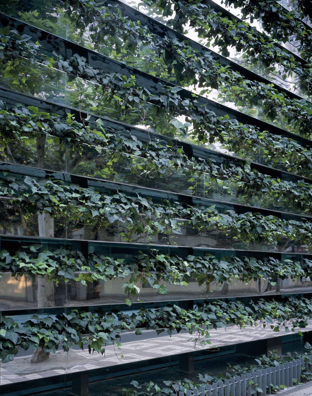 A Green Brise Soleil Against Pollution Z58 By Kengo Kuma