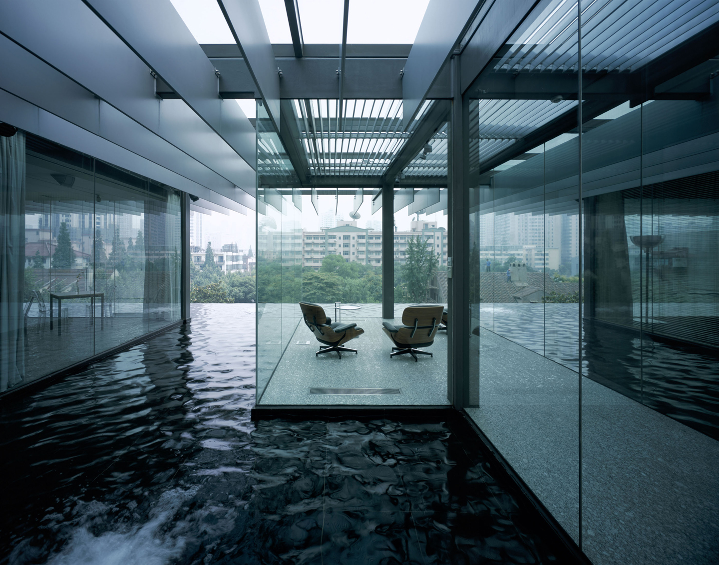 Artificial Waterfall House