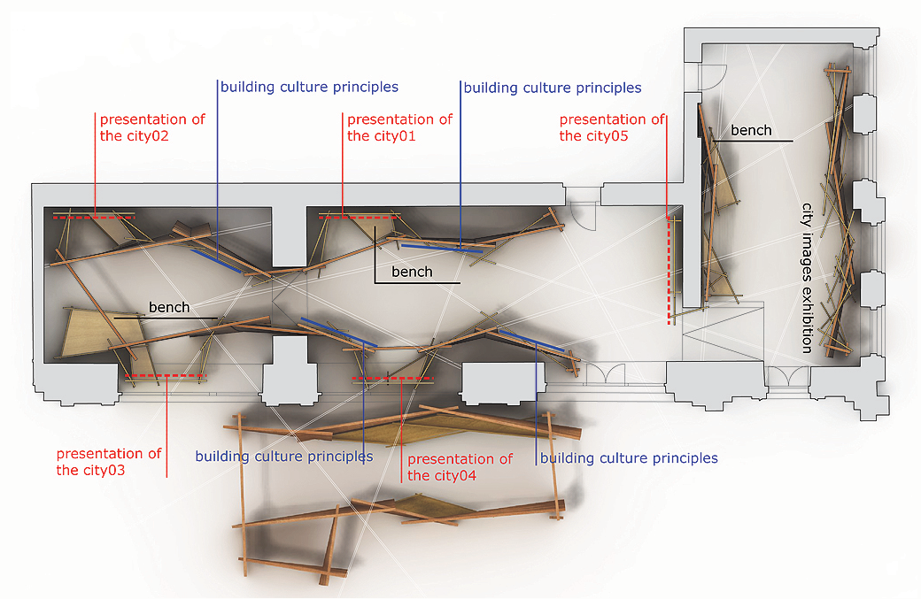 Exhibition Booth Plan : Exhibition design for building culture vienna metalocus