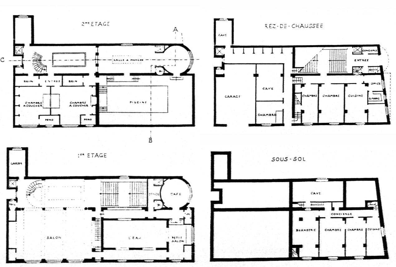 A house for the black venus metalocus for Basement blueprint