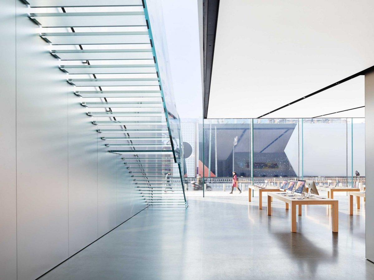 Biggest Apple Store In Asia By Foster Partners Metalocus
