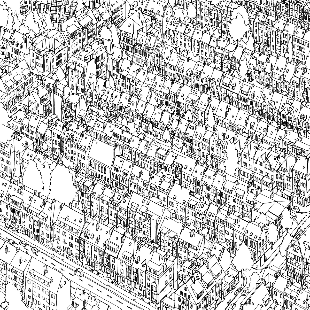 Fantastic Cities By Steve McDonald Cover A Colouring Book