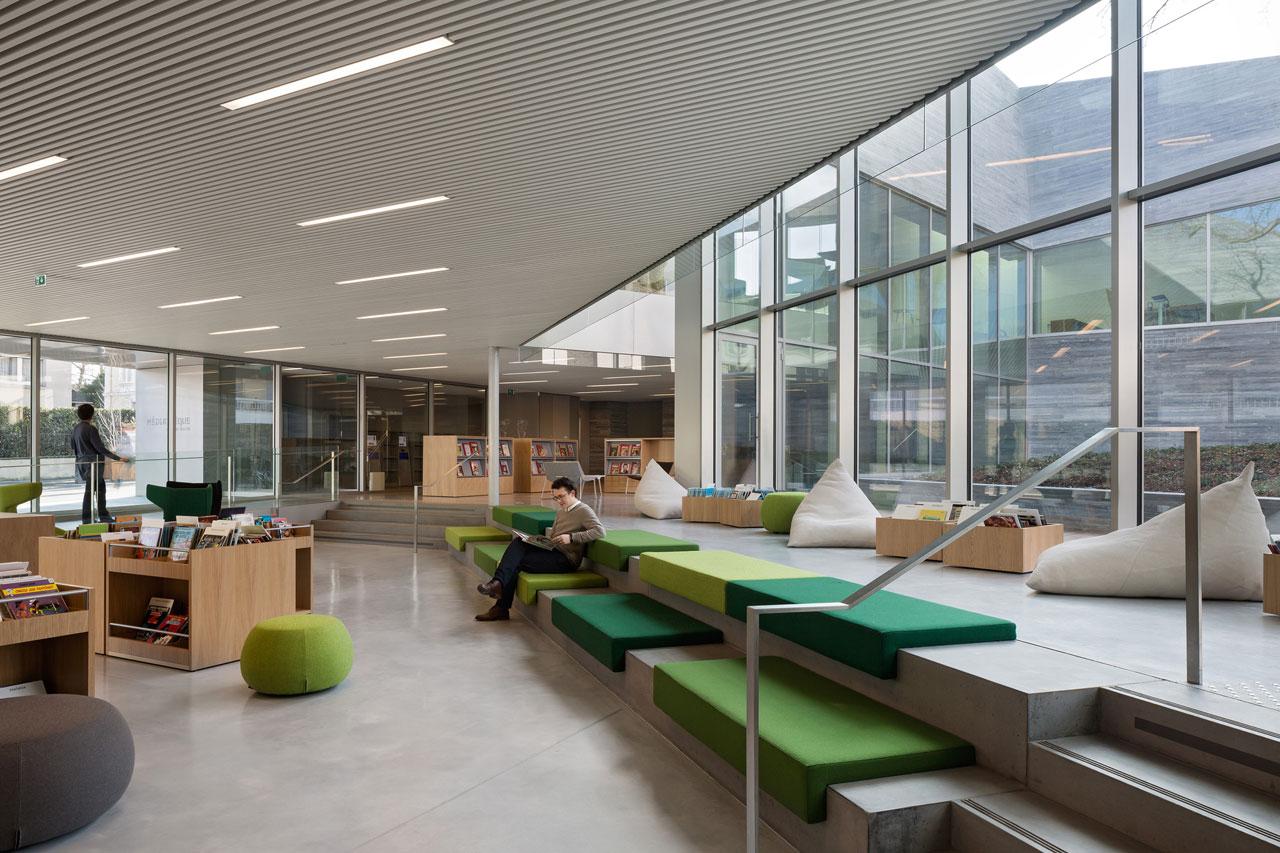 Mediateca En Bourg La Reine Por Pascale Gu Dot Architecte Metalocus