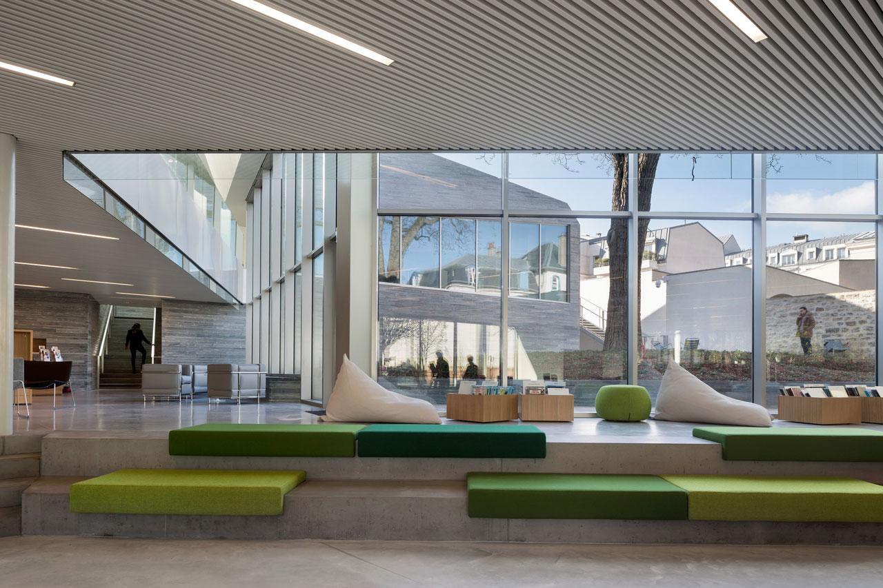 media library in bourg la reine by pascale gu dot architecte metalocus. Black Bedroom Furniture Sets. Home Design Ideas