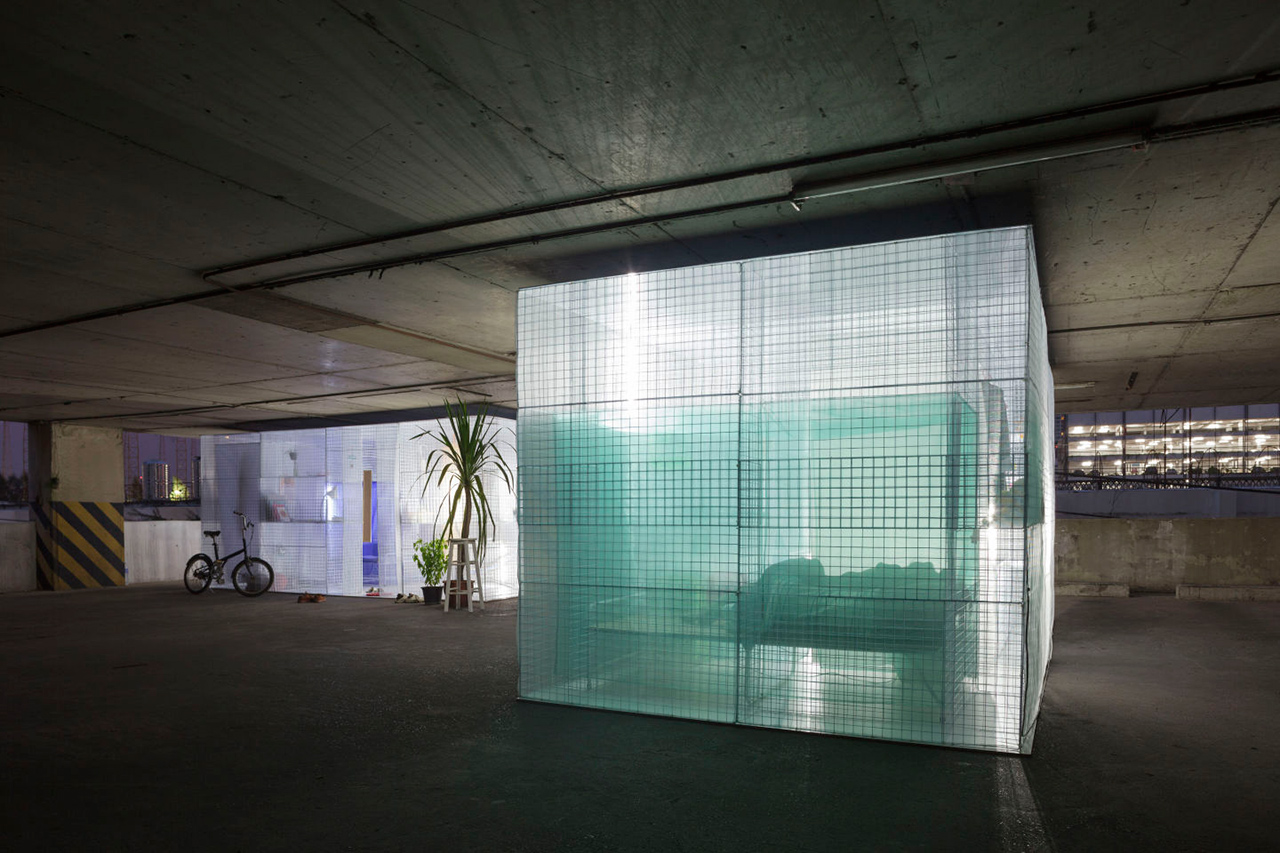 Minimalist Pop Up Houses In A Parking Garage Of Bangkok