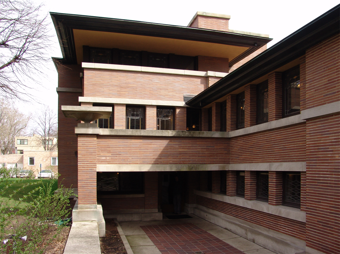 The best example of the Prairie Houses, the Robie House ...