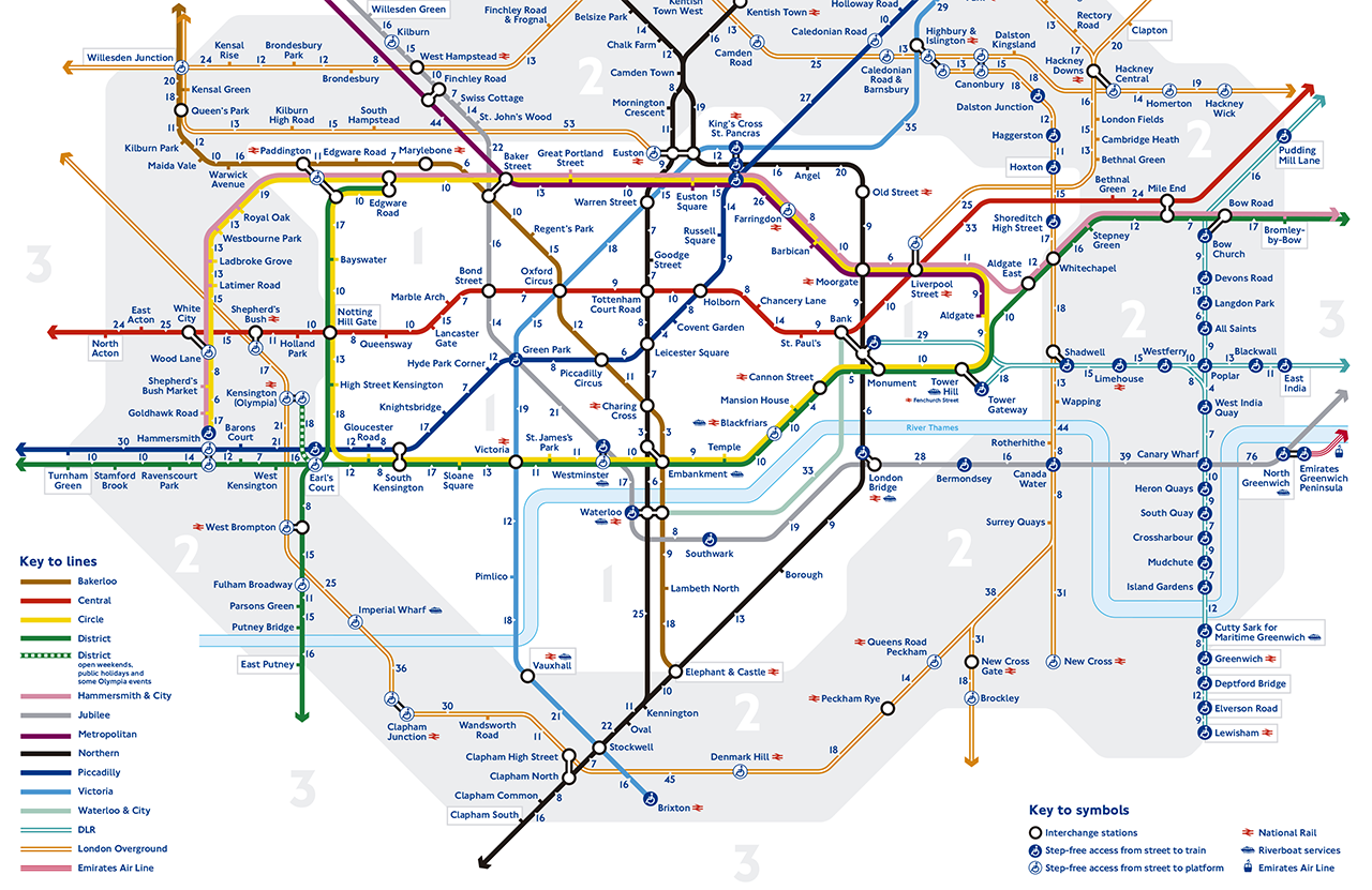 A new London Tube map shows walking times between stations METALOCUS