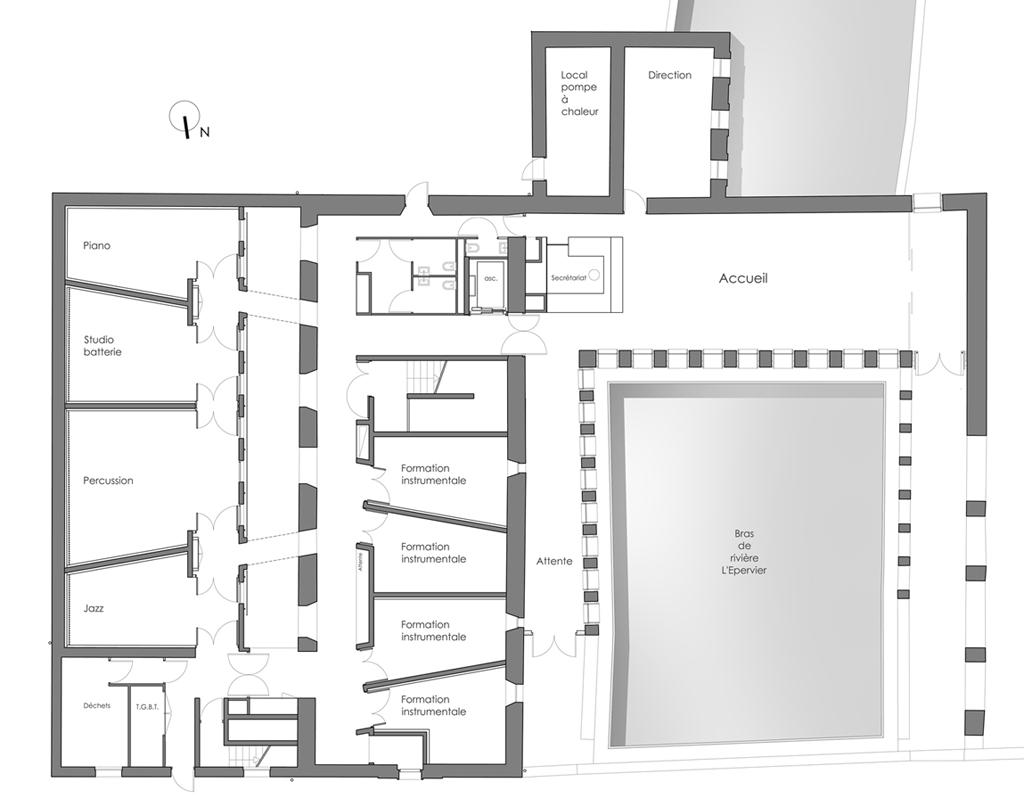 rehabilitaci n de la escuela de m sica de louviers metalocus. Black Bedroom Furniture Sets. Home Design Ideas