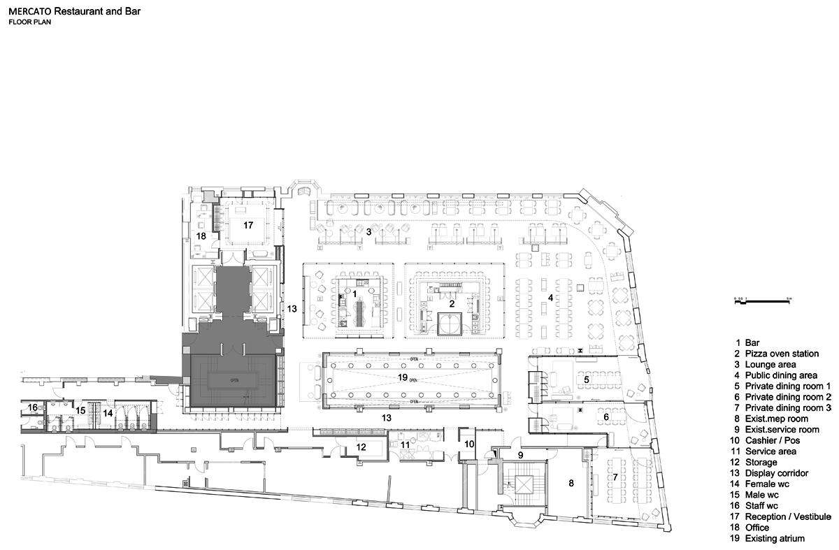 Italian Restaurant Floor Plan. NERI amp  MERCATO italian restaurant METALOCUS