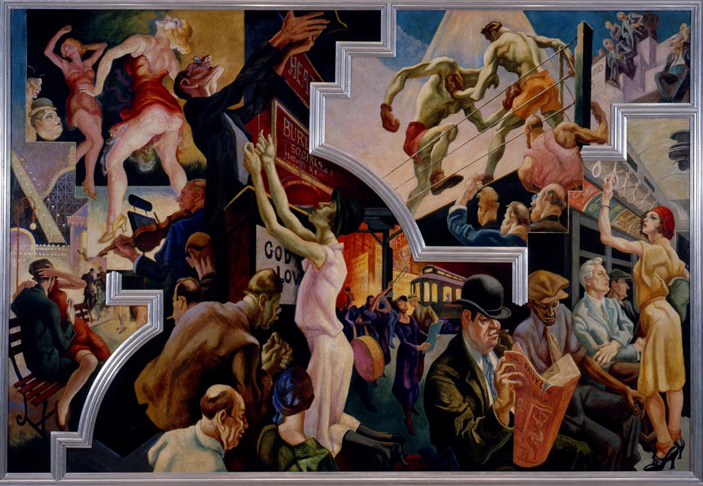 The Mural Quot America Today Quot By Thomas Hart Benton At The Met