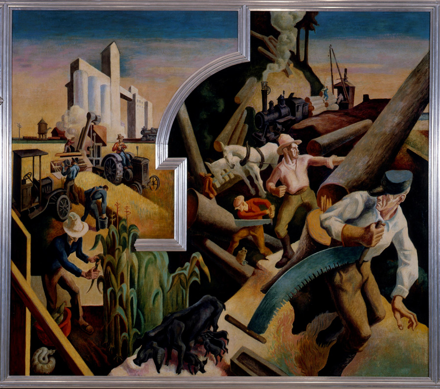"""The mural """"America Today"""" by Thomas Hart Benton at The MET ..."""