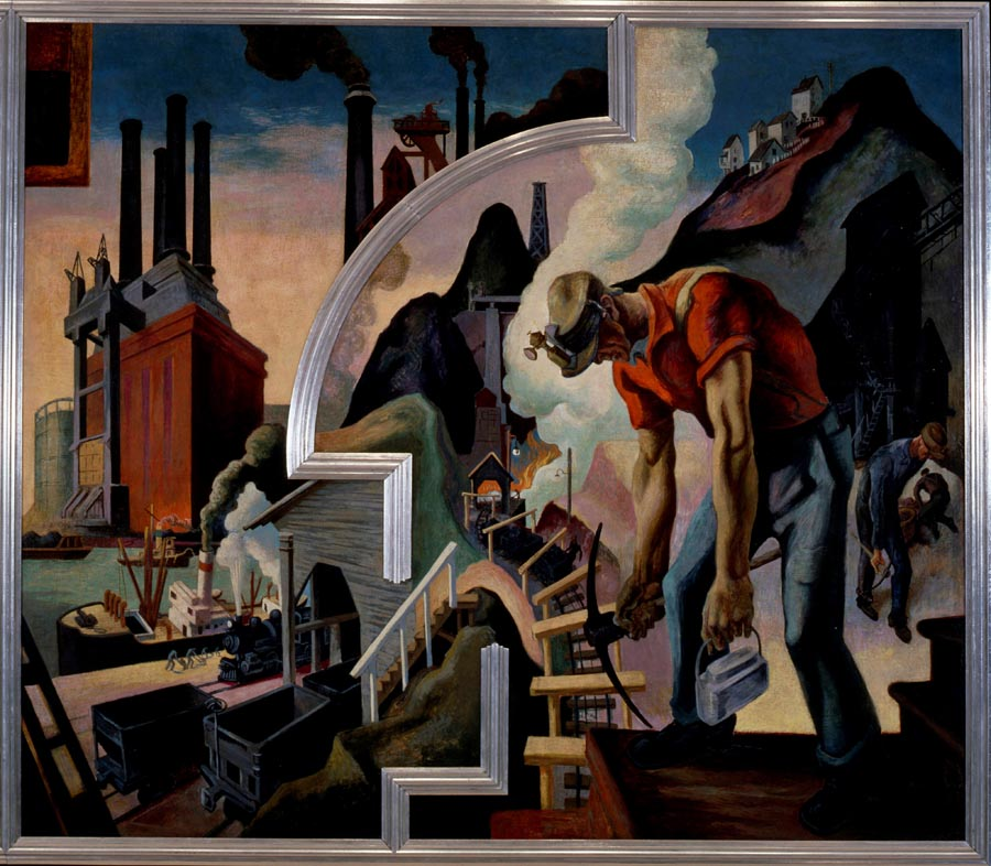 The mural america today by thomas hart benton at the met for America today mural