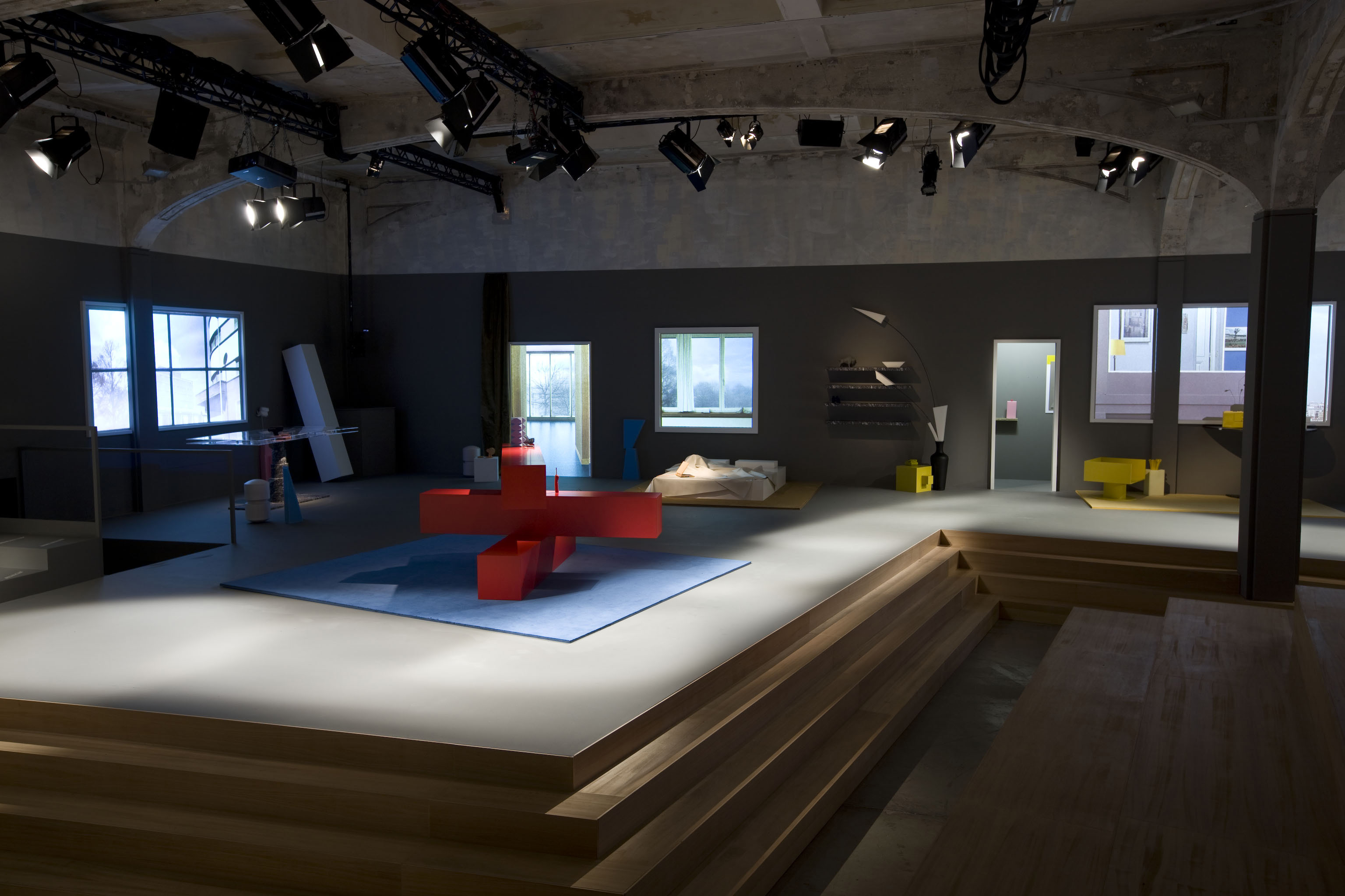 In Detail The Furniture By Oma During The Catwalk Prada Fall  # Muebles Fashion