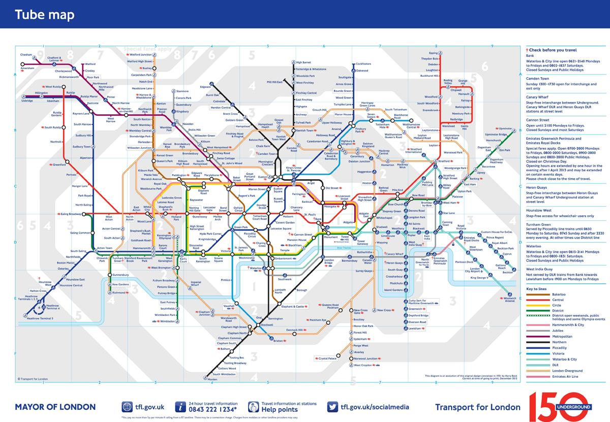 The London Underground 150 Years Metalocus