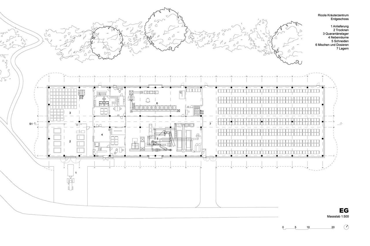 Herzog De Meuron Completed Ricola Center Laufen on 1111 Lincoln Road Plans