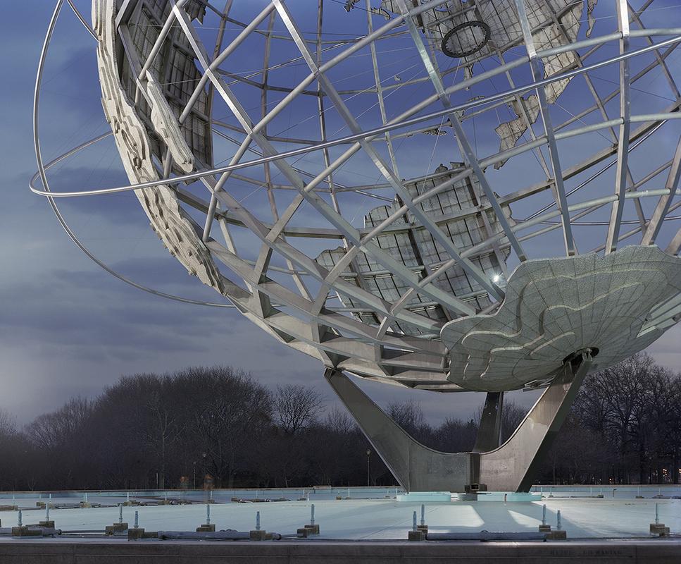 "New York 1964 World's Fair, ""Peace Through Understanding,"" Unisphere, 2009. Photography © Jade Doskow"