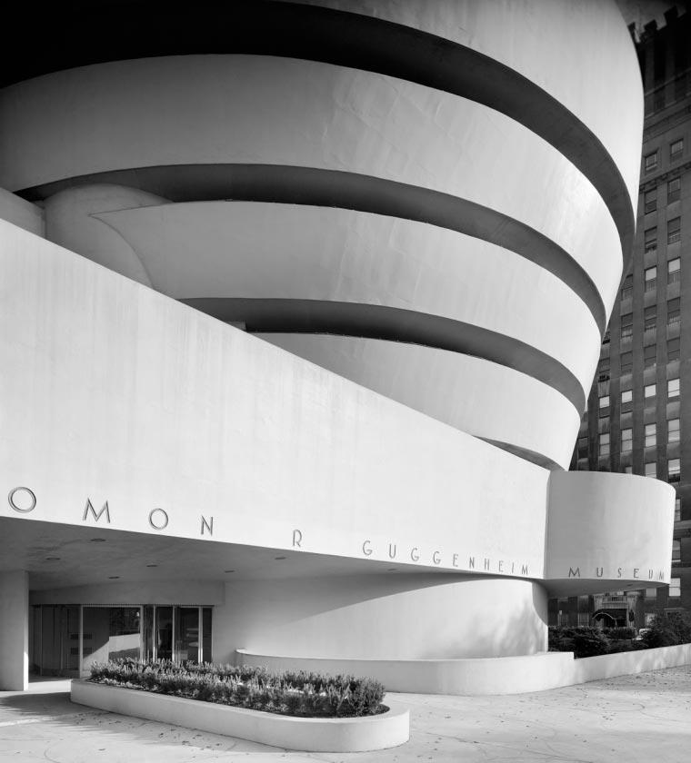 Guggenheim New York by Frank Lloyd Wright, New York, 1959.  Photography © Ezra Stoller, Esto