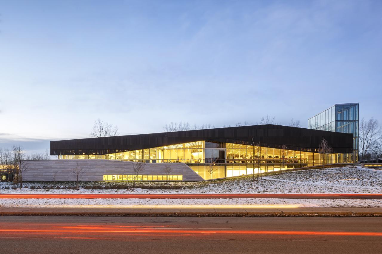 Vista general. Biblioteca Boisé por Lemay. Fotografía © Doublespace photography