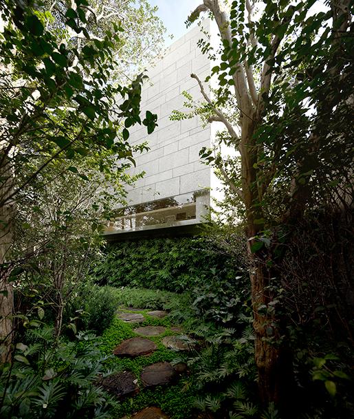 Exterior view. Casa Cubo, Sao Pablo, Brasil by Isay Weinfeld. Photograph © Fernando Guerra