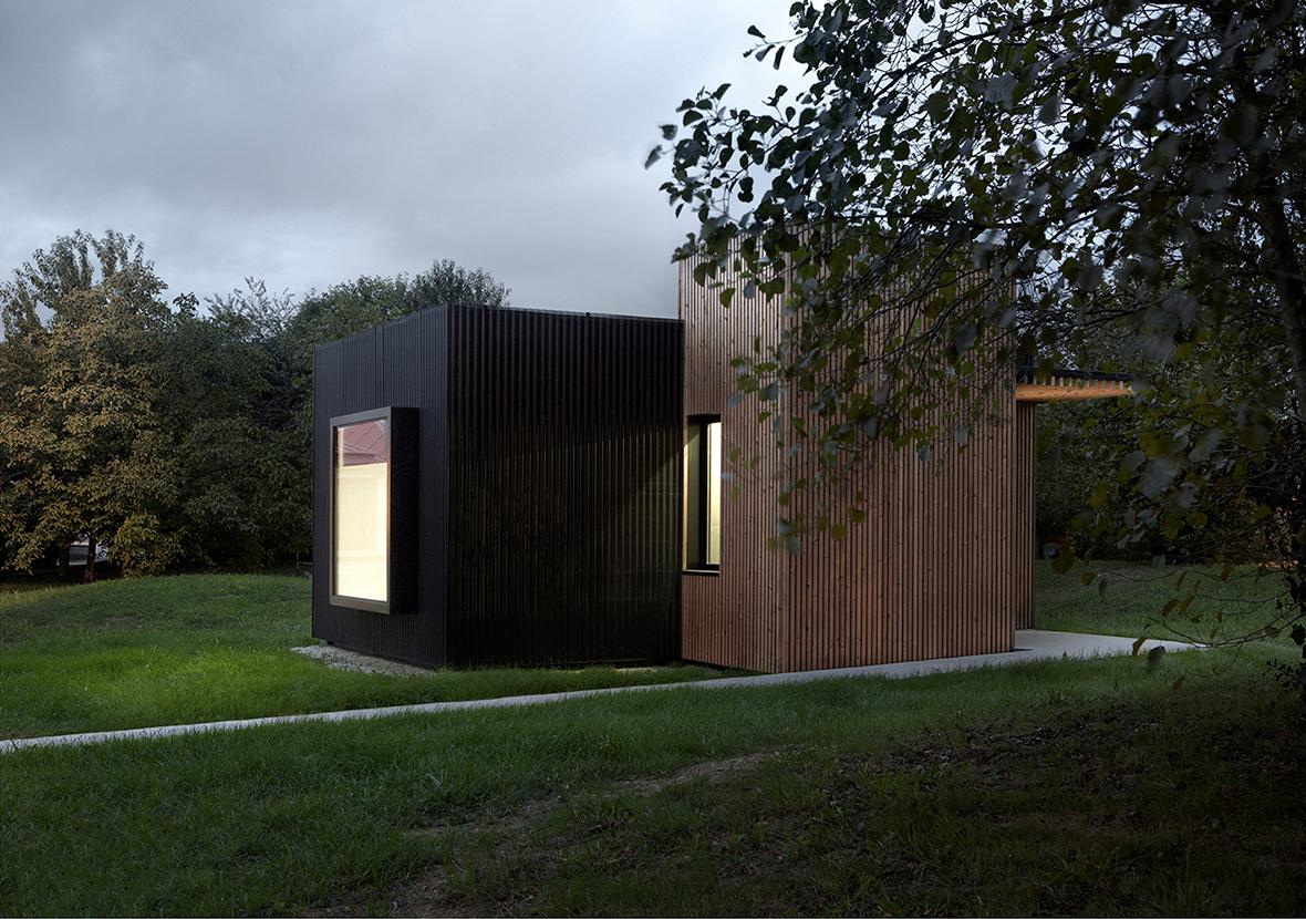 "Vista exterior de ""b home"" por [baragaño] Architects. Fotografía © Mariela Apollonio"