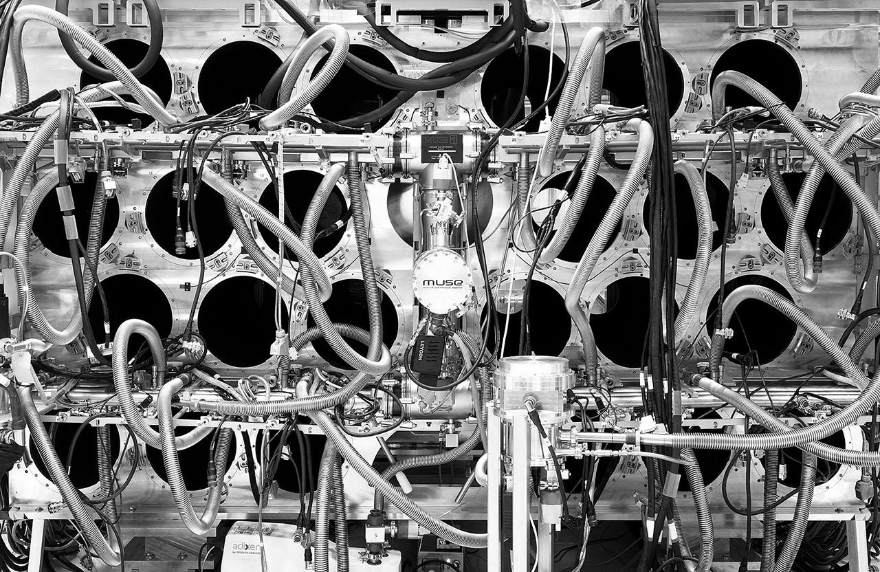 Muse (2014). Outer space. (2011-ongoing). By Michael Najjar. Hybrid photography, Lightjet-print, alu dibond, diasec, custom made aluminium frame, 202 x 132 cm and 102 x 67 cm