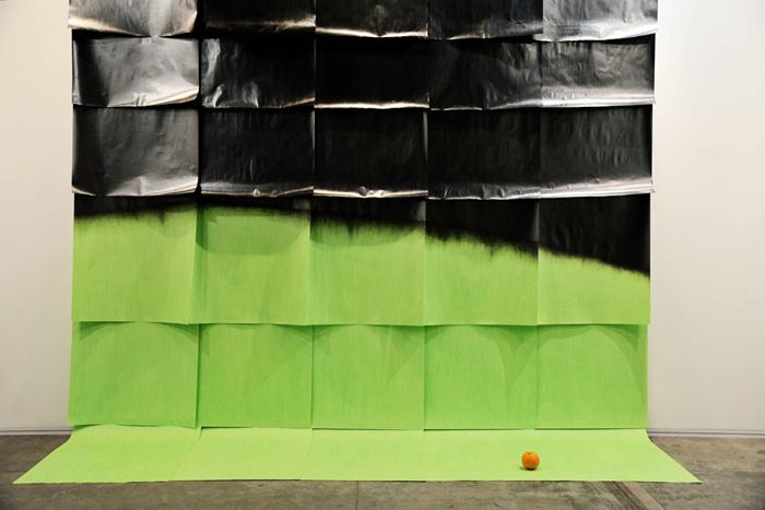 J Hidalgo Green Gradient with orange