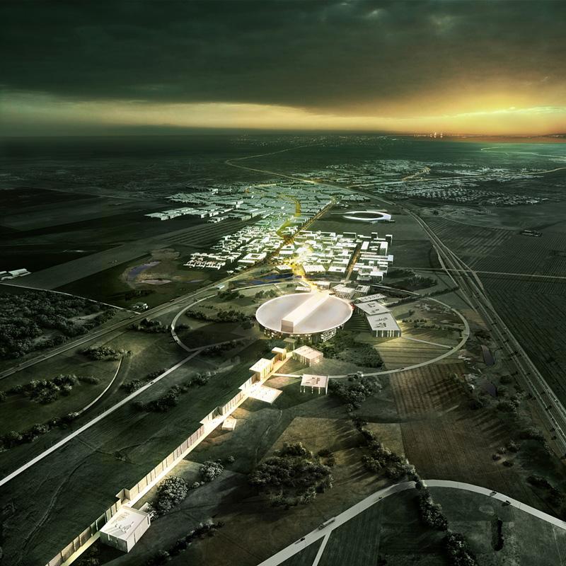 Vista general del proyecto ganador para la European Spallation Source (ESS) por Henning Larsen Architects, COBE y SLA