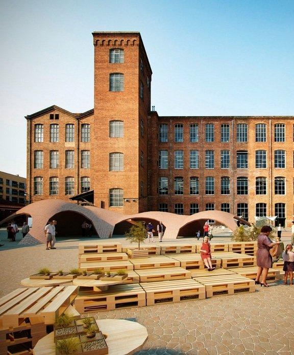 Brick topia por map13 metalocus for Pabellones arquitectura efimera