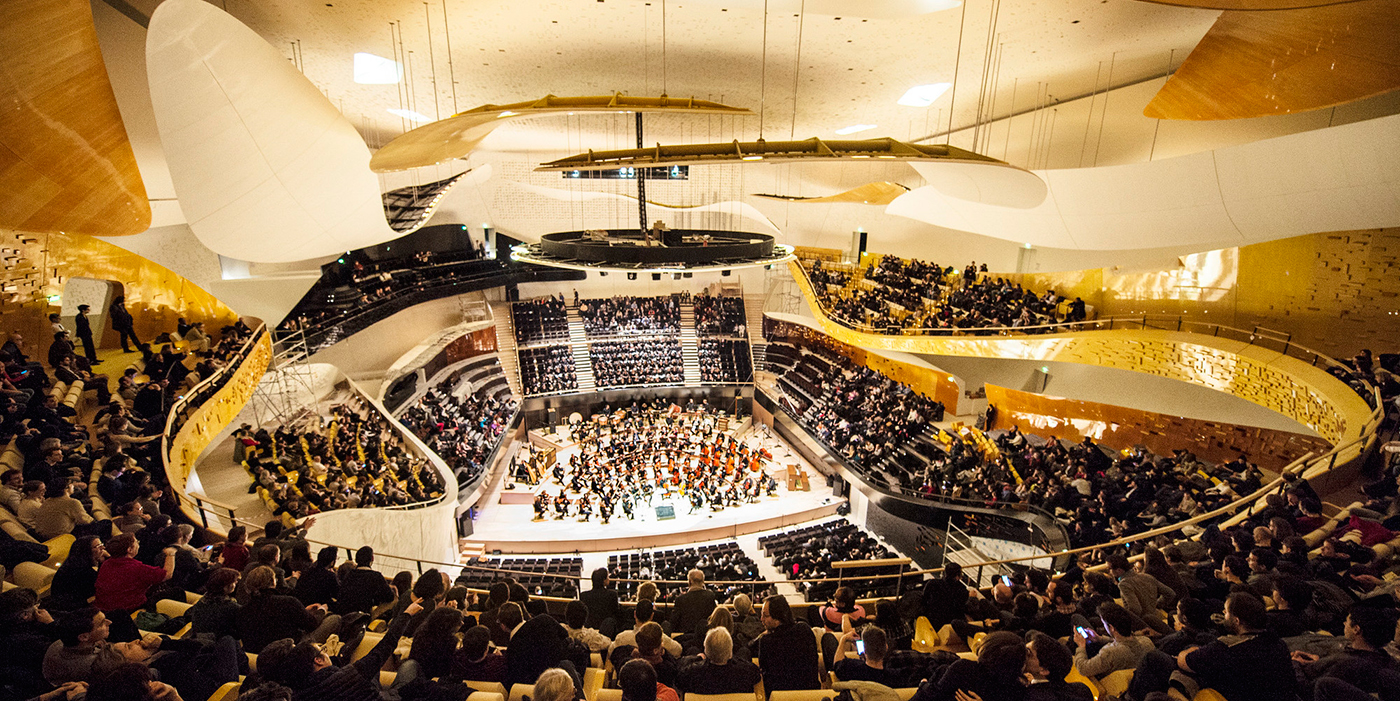 Inside rendering. Philharmonie de Paris by Jean Nouvel