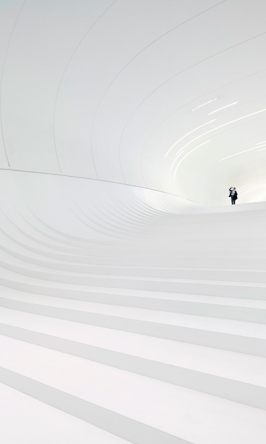 Overall Winner and Interiors: Heydar Aliyev Centre Cultural Centre by Zaha Hadid Architects. Photograph © Hufton and Crow