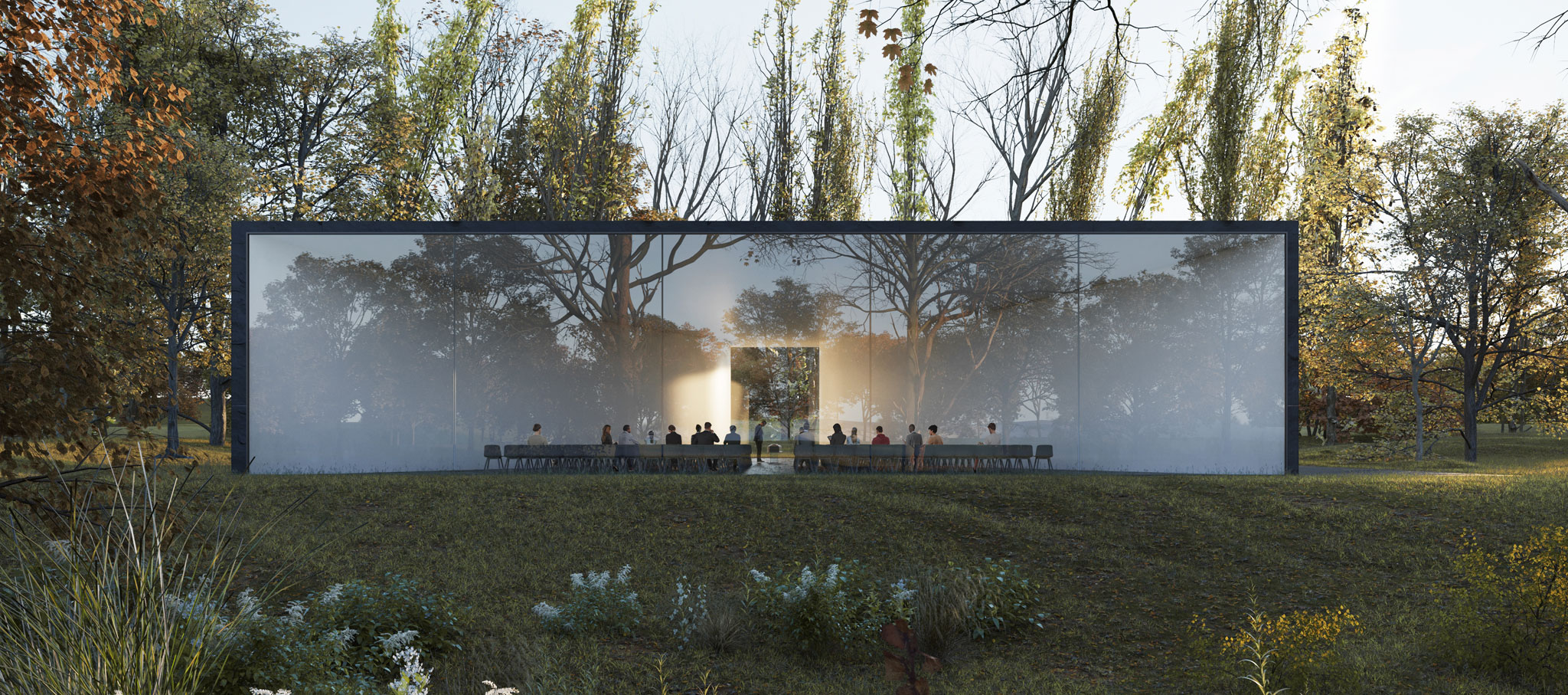 New Funeral Ceremony Centre by HofmanDujardin. Rendering by VERO Visual