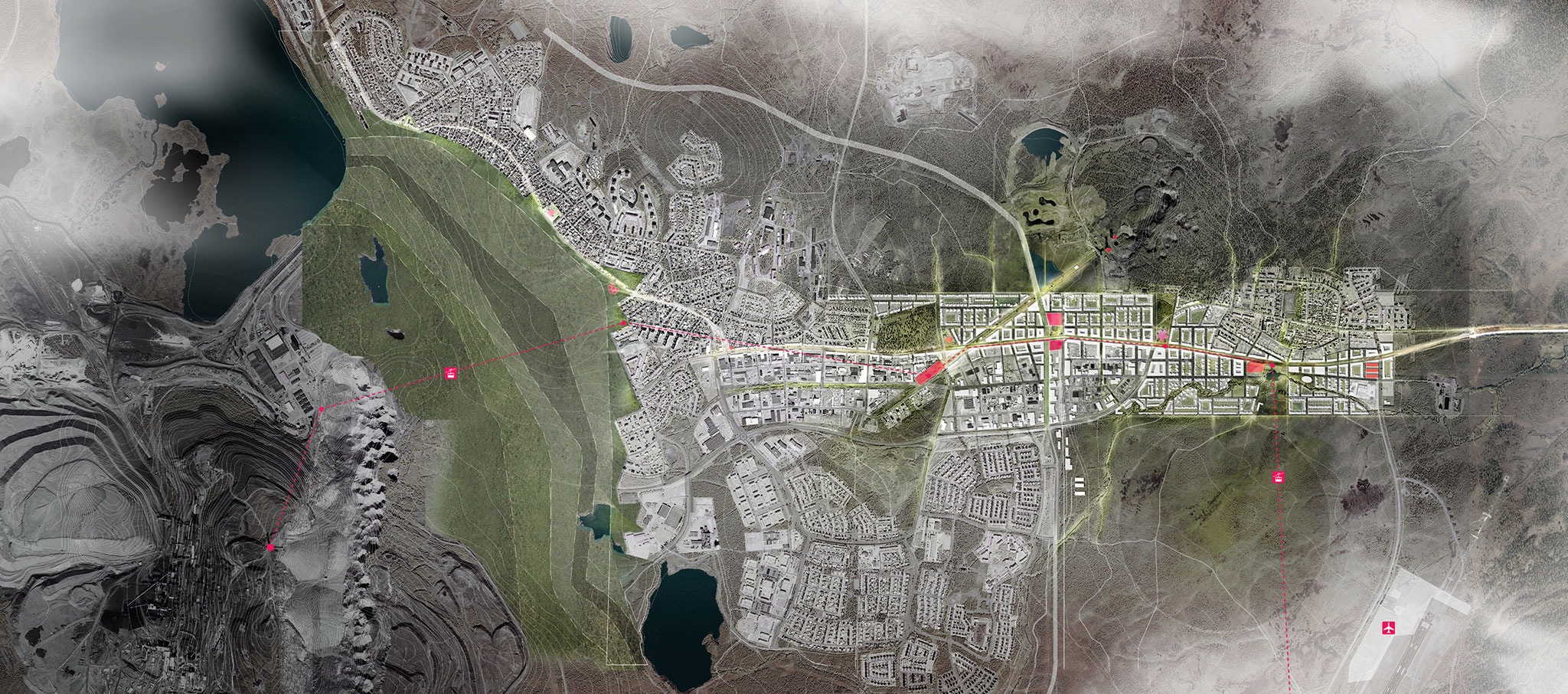 Overview. New Kiruna project. Image courtesy of White and Tegmark