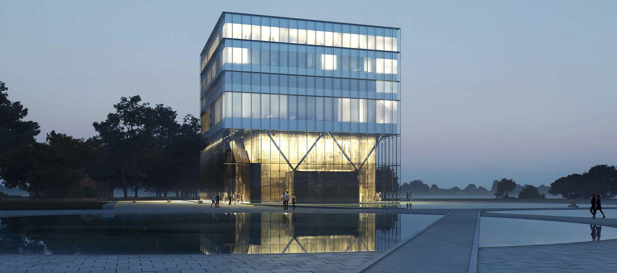 """Visualización. Dorte Mandrup gana el concurso para construir """"Heritage Center"""" en la cima de un búnker de la Segunda Guerra Mundial"""