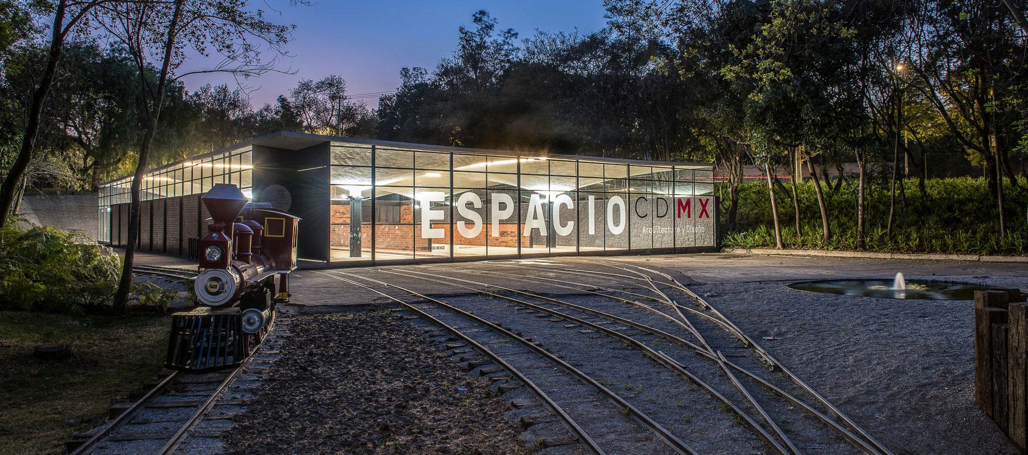 Night view. Espacio CDMX, a rehabilitation of C Cubica Arquitectos + Sinestesia. Photograph by Jaime Navarro
