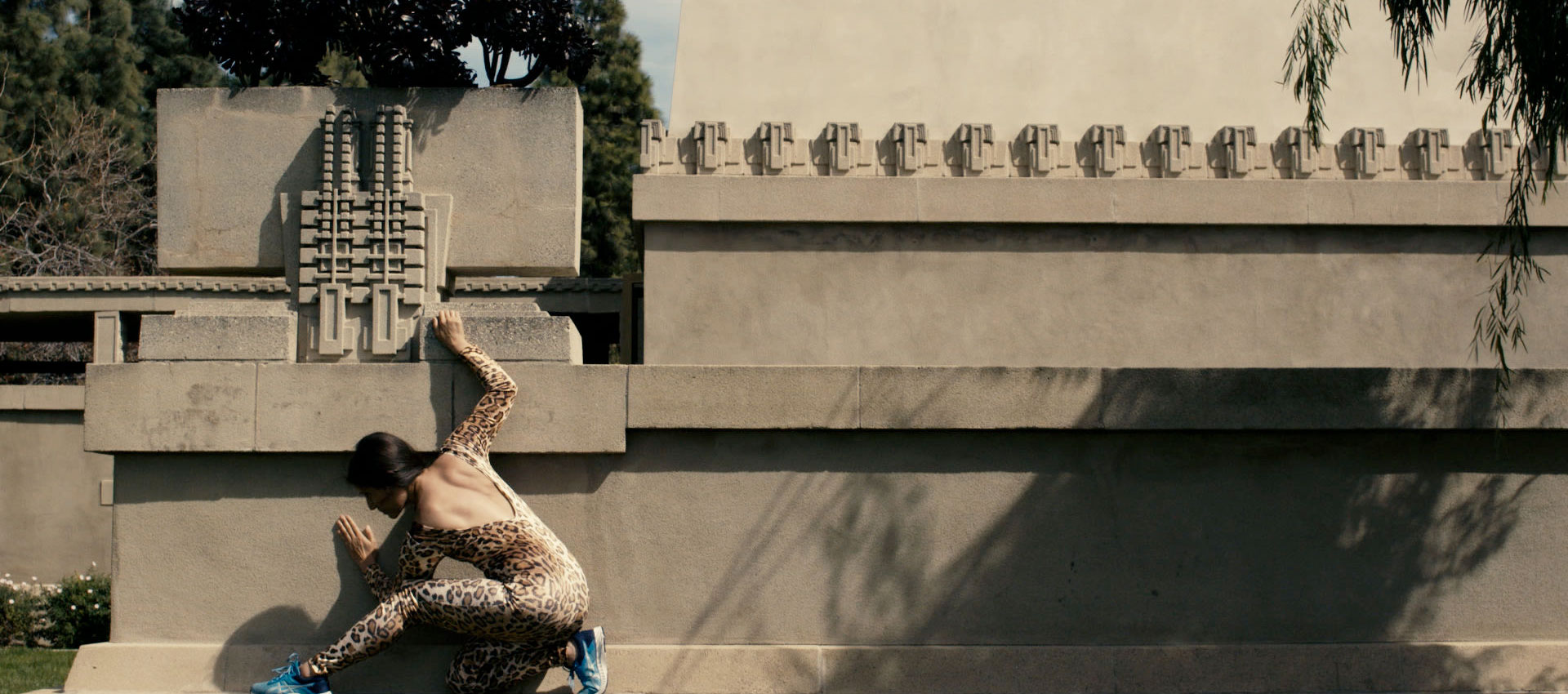 """Clarissa Tossin, Ch'u Mayaa, 2017, production still. Choreography/Performer: Crystal Sepúlveda; Cinematography: Jeremy Glaholt. Originally commissioned and produced by the City of Los Angeles Department of Cultural Affairs for the exhibition """"Condemned to be Modern"""" as part of Getty's """"Pacific Standard Time:LA/LA."""" Courtesy the artist"""