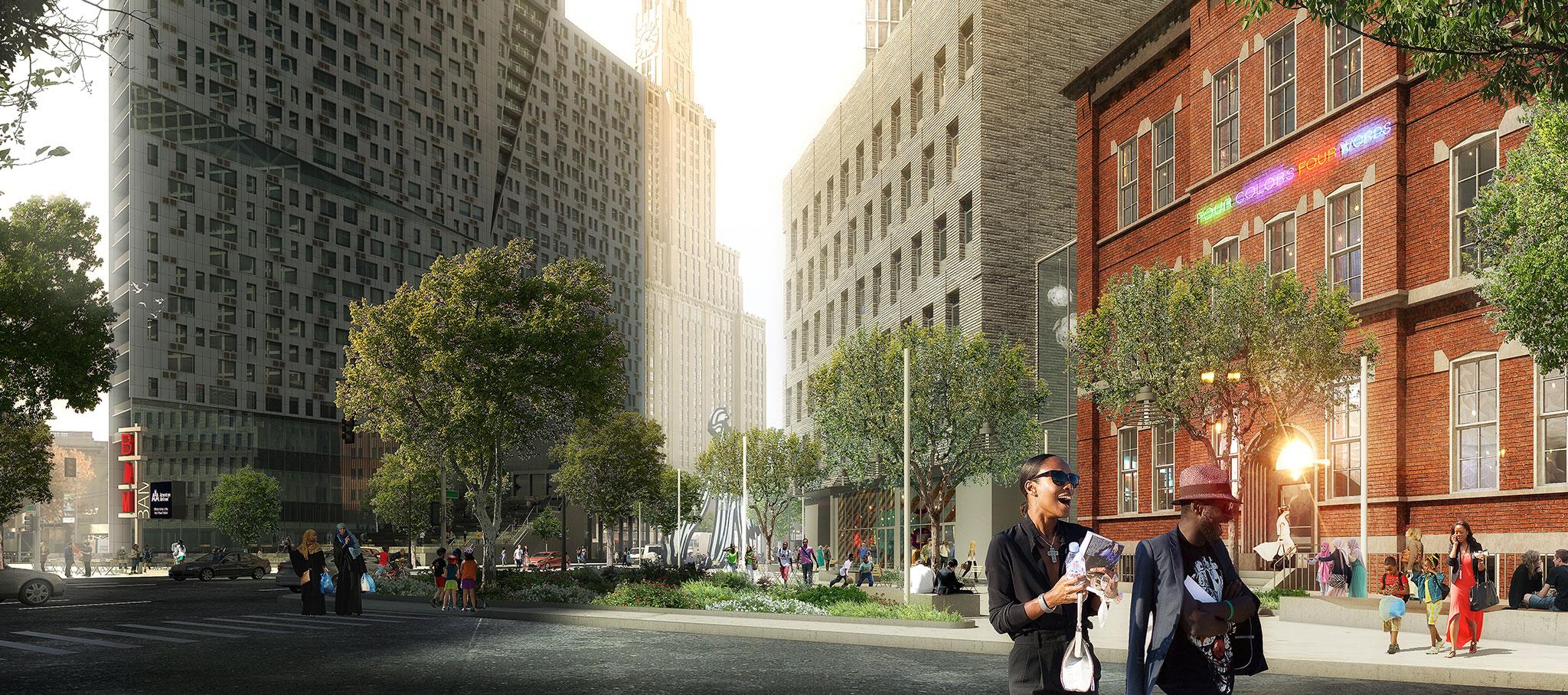 80 Flatbush, una propuesta de usos mixtos en downtown Brooklyn. Cortesía de 80 Flatbush