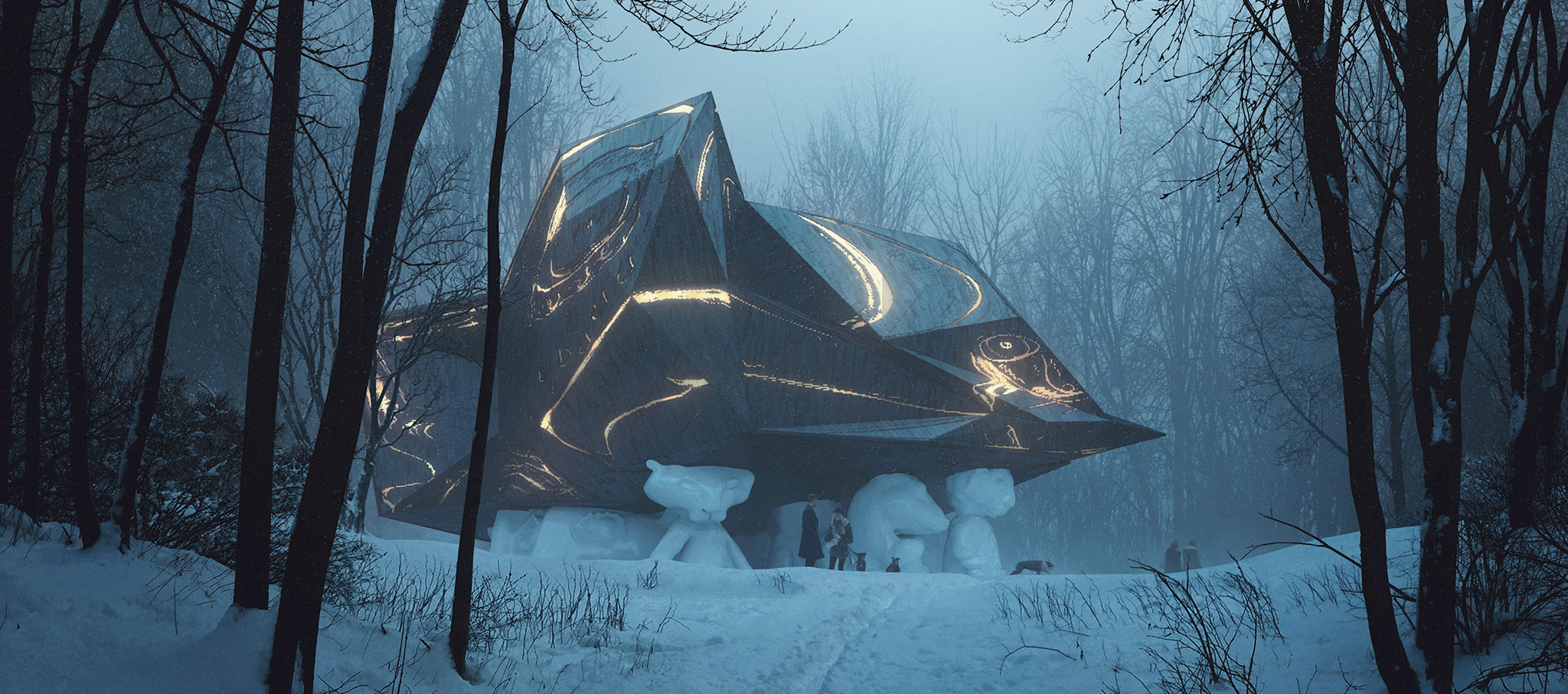 """""""Una casa en la que morir"""" diseñada por el estudio de arquitectura noruego Sønhetta, cambiará las visiones pintadas de Edvard Munch. Imagen cortesía de MIR y Snohetta"""