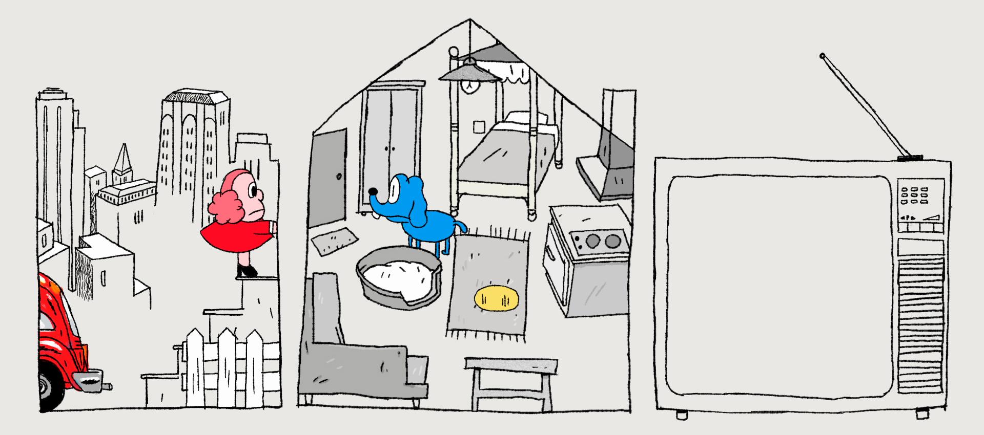 "Imagen del video ""A Dog's Life"" por Pieter Vandeabeele."