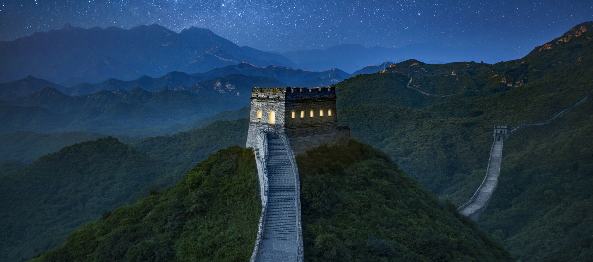 A Night on the Great Wall of China, Courtesy of Airbnb. Image courtesy of Airbnb