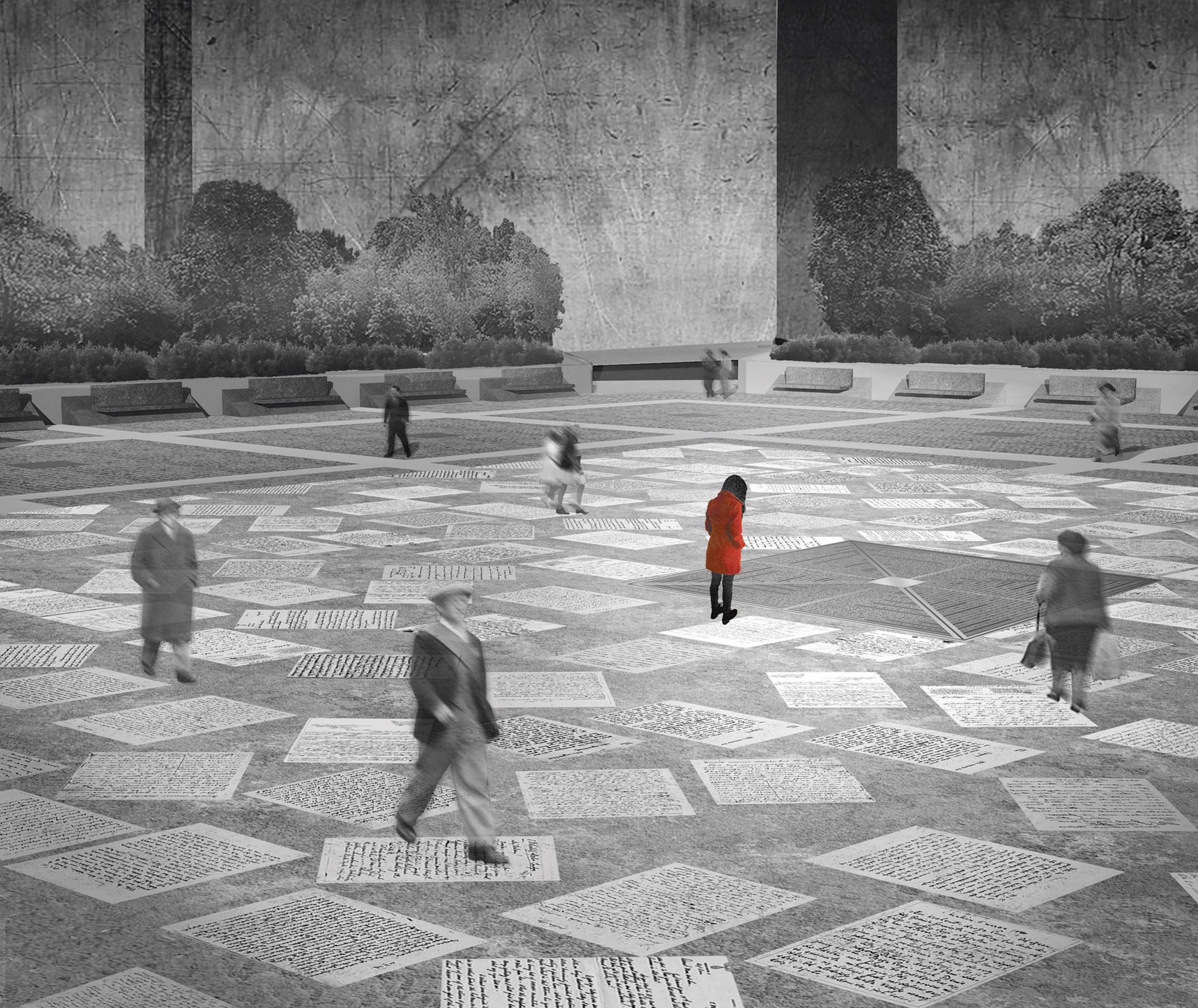 """An echo in time"" propuesta ganadora por Tszwai So, Spheron Architects"