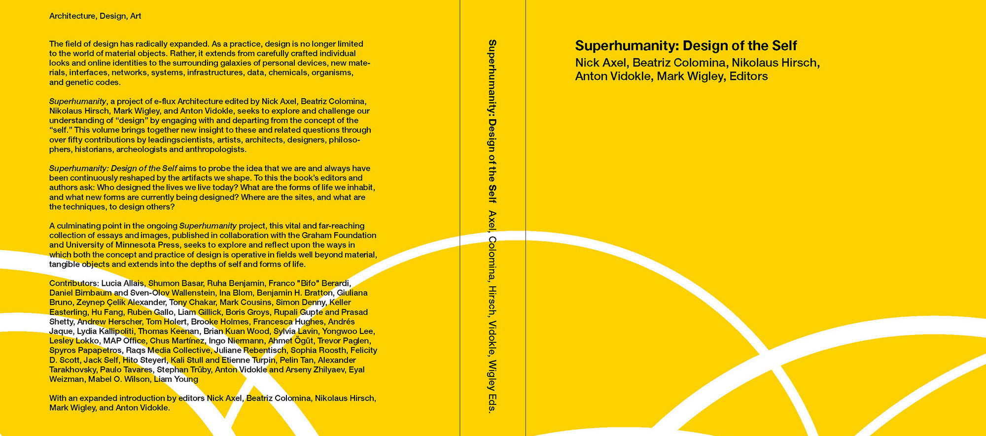 Portada de Superhumanity: Design of the Self. Diseño de portada por Liam Gillick